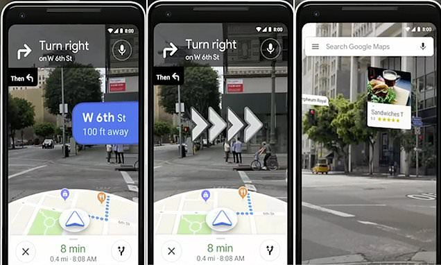 google maps augmented reality mobile shot